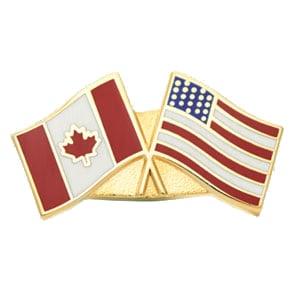Canada USA Friendship flag lapel pins buy online