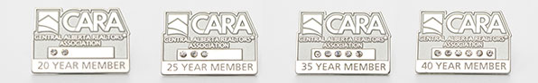 cara-years-pins, years service pins, employee pins, engraving, recognition pins