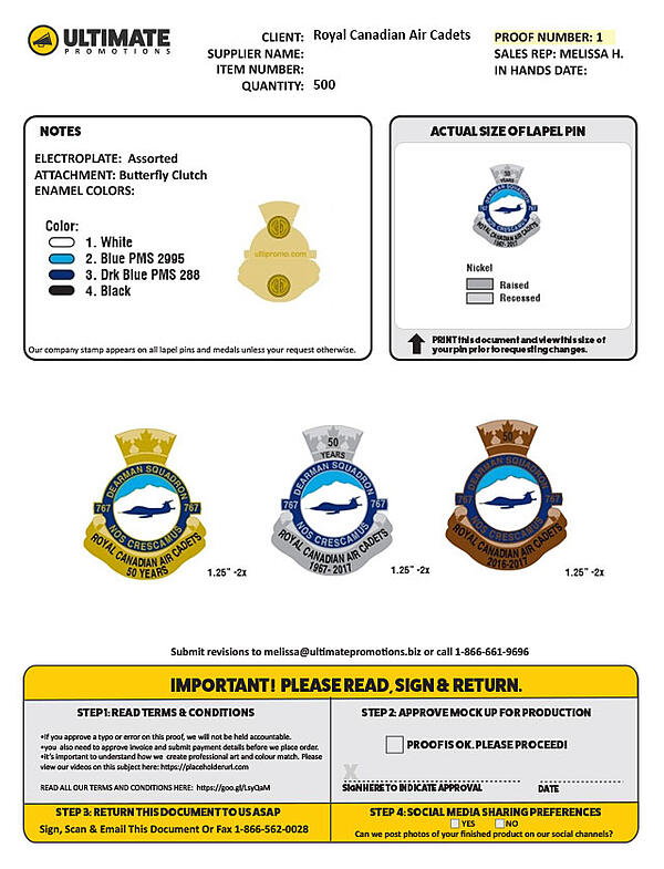corporate anniverary pins custom canada