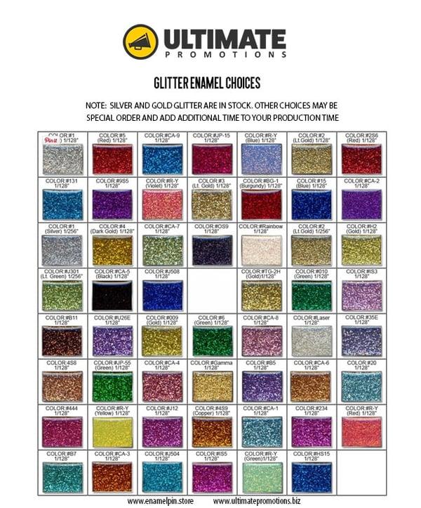 DIY Enamel Pin Design: Glitter