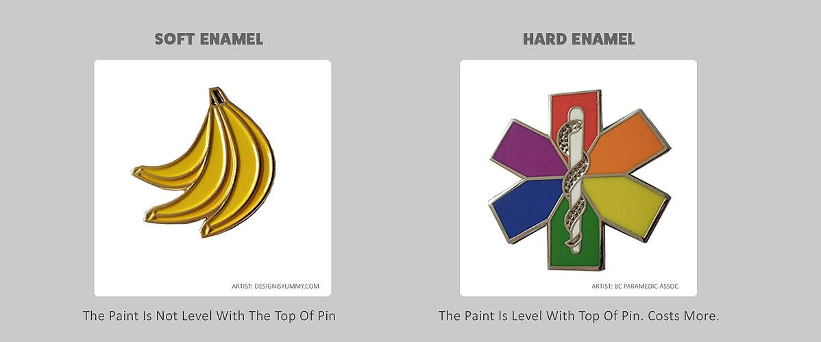 What Is The Difference Between Hard And Soft Enamel Pins?
