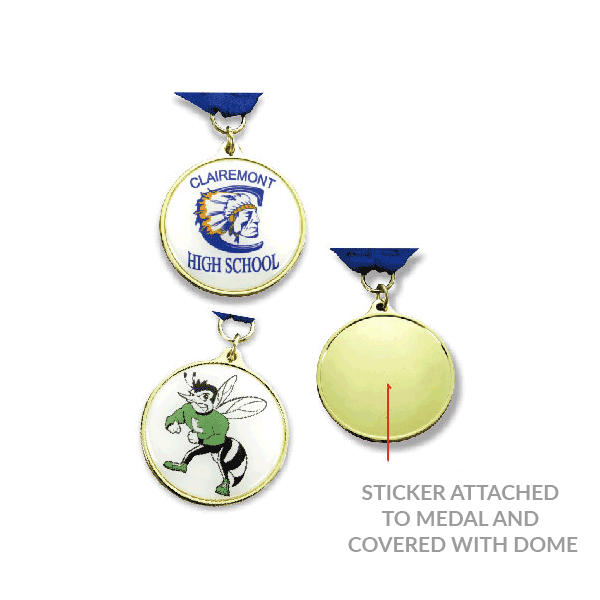 Economy Printed Stock Medals