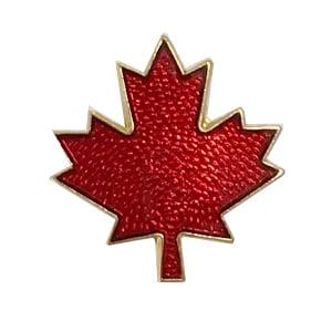 Canada flag pin, maple leaf pin, friendship flag pin
