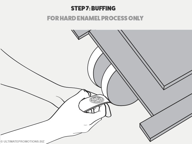 how pins are made: buffing