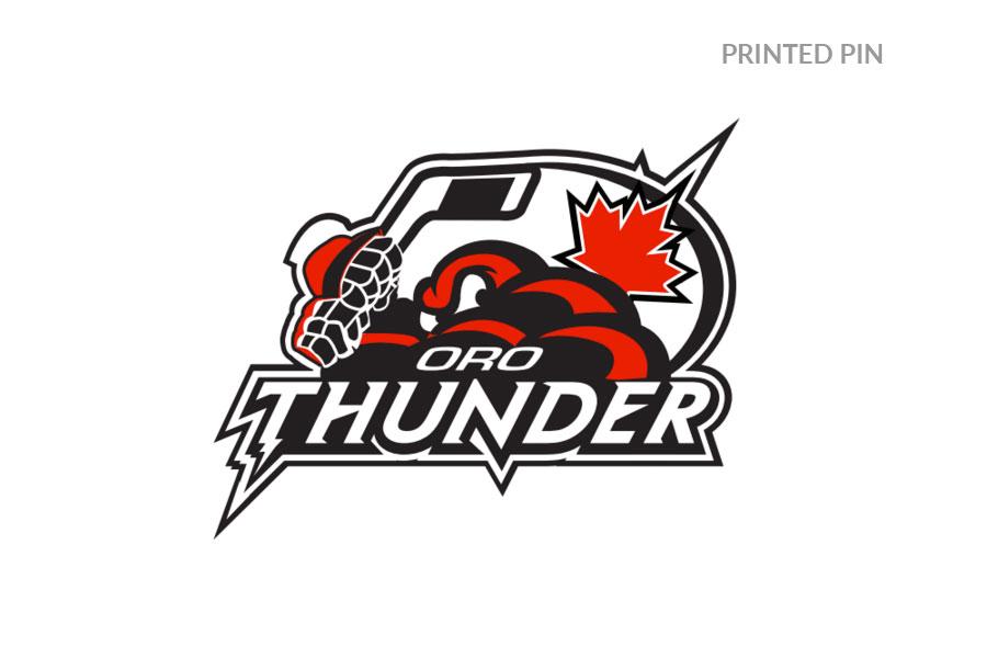 Oro Thunder Hockey Trading Pins