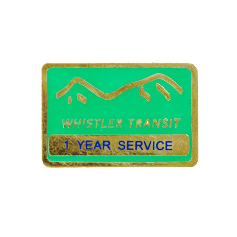 Whistler Transit Years Service Pin