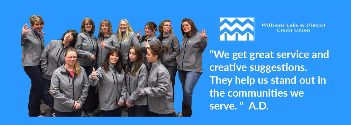 Williams Lake & District Credit Union Uniforms Photo